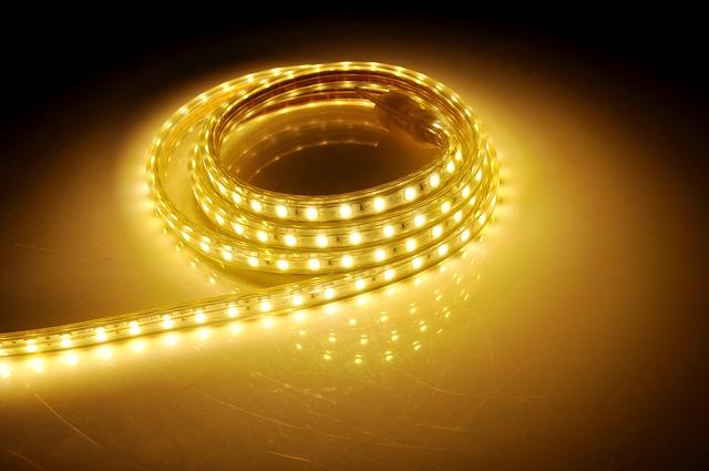 žiariace led pásy, LED, kotúč, diódy, žltá farba.jpg